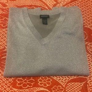 Avenue Women's Plus Silver Sweater (22/24)